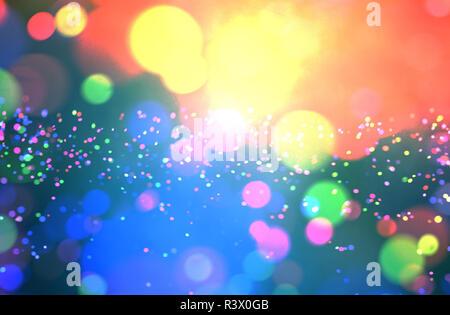 Resumen coloridas luces borrosa para diseño de fondo festivo como navidad u otras fiestas estacionales Imagen De Stock