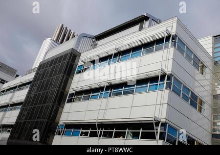 Edificio Wellcome Trust, Addenbrooke's Hospital de la Universidad de Cambridge, Inglaterra Imagen De Stock