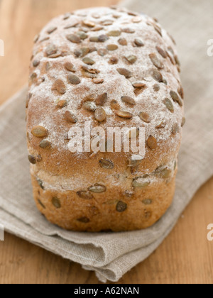 Pan integrales con semillas de calabaza rodada con una cámara de medio formato digital profesional Imagen De Stock
