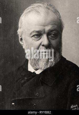 Retrato fotográfico de Henner desde la colección Félix Potin, de principios del siglo XX. Imagen De Stock