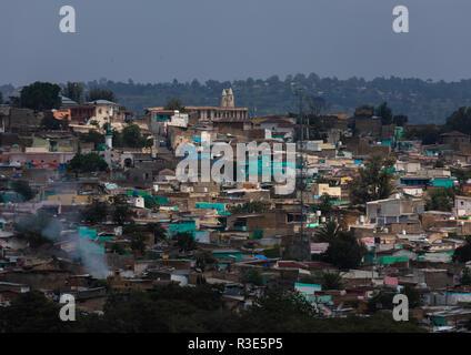 Vista de Harar jugol Old Town, Región Harari, Harar, Etiopía Imagen De Stock
