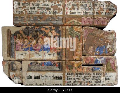 La pintura de la pared de la capilla de San Esteban. San Esteban fue la capilla real en el Palacio de Westminster, Imagen De Stock