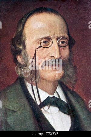 JACQUES Offenbach (1819-1880), compositor franco-alemana de 1865. Imagen De Stock