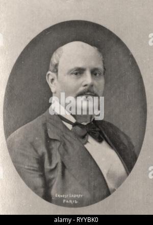 Retrato fotográfico de Montpin Colección de Félix Potin, de principios del siglo XX. Imagen De Stock