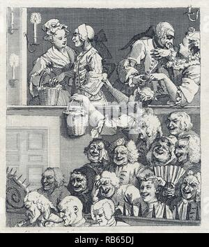 "William Hogarth, 1697.1764 .La risa de audiencia"" (1735) Imagen De Stock"