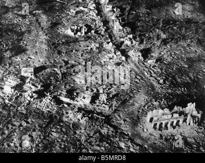9 1917 11 10 A1 E poblado destruido Paschendael 1917 Guerra Mundial 1 1914 18 frente occidental batalla de Flandes Imagen De Stock