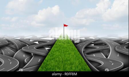 Escapada de Golf y el equilibrio de la vida laboral concepto como negocio de vacaciones o descanso corporativo como símbolo 3D ilustración. Imagen De Stock