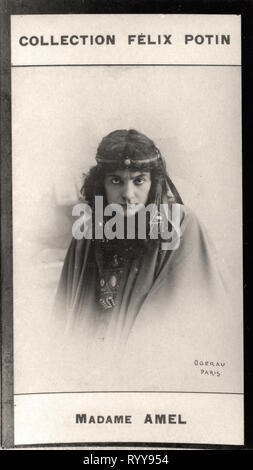Retrato fotográfico de Amel de colección Félix Potin, de principios del siglo XX. Imagen De Stock