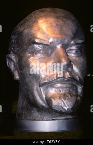 1970 busto de Lenin, líder de la revolución bolchevique de 1917 la URSS comunista revolucionaria de 1974 Feria Mundial de Spokane WA - ks12015 LAM001 HARS URSS Imagen De Stock