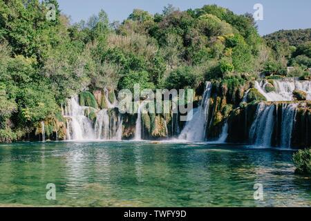 Cascada de Roski, Parque Nacional de Krka, Croacia Imagen De Stock