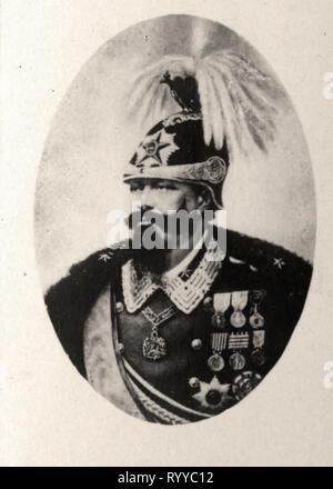 Retrato fotográfico de Víctor Emmanuel Ditalie Roi desde la colección Félix Potin, de principios del siglo XX. Imagen De Stock