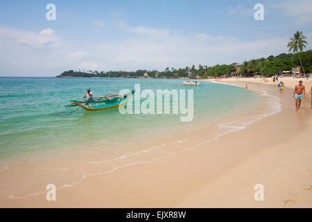 Los pescadores locales Unawatuna Beach Imagen De Stock