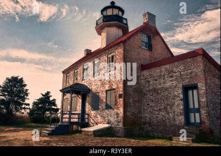 Cape May, Nueva Jersey, EE.UU.. Edificio de ladrillo abandonadas Imagen De Stock