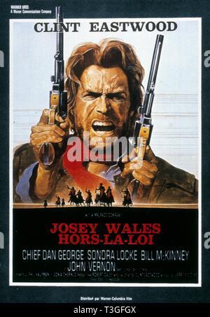 La Outlaw Josey Wales Año : 1976 EE UU Director: Clint Eastwood Clint Eastwood cartel (EE.UU.) Imagen De Stock