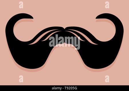Icono de bigote vector en el estilo imperial Imagen De Stock