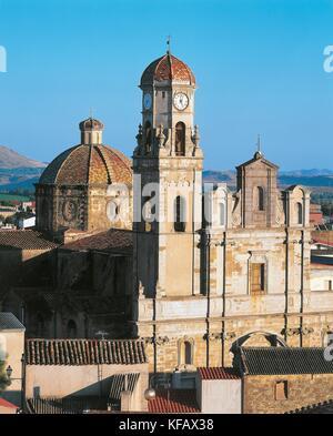 El siglo XVII Cerdeña sanluri la fachada de la iglesia de Nuestra Señora de Gracia Imagen De Stock