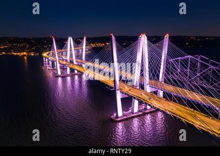 Vista aérea de la nueva Tappan Zee Bridge Imagen De Stock