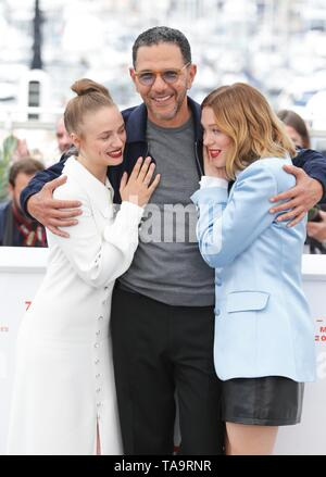 Cannes, Francia. 23 Mayo, 2019. Sara Forestier, Roschdy Zem, Lea Seydoux, 2019 Crédito: Allstar Picture Library/Alamy Live News Crédito: Allstar Picture Library/Alamy Live News Imagen De Stock