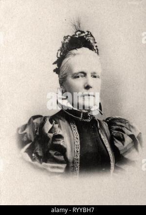 Retrato fotográfico de Marie Reine des Belges desde la colección Félix Potin, de principios del siglo XX. Imagen De Stock