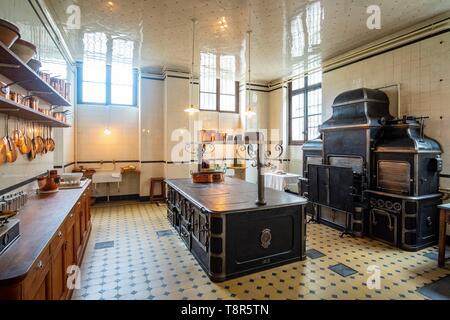 Francia, Paris, museo Nissim de Camondo, cocinar Imagen De Stock