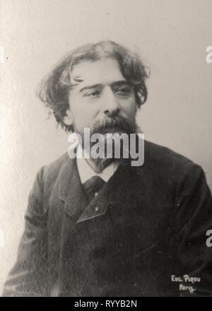 Retrato fotográfico de Daudet Colección de Félix Potin, de principios del siglo XX. Imagen De Stock