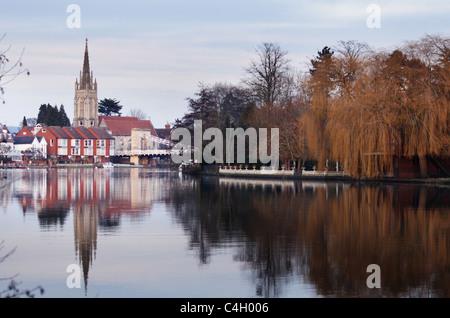 En Marlow, Buckinghamshire, Inglaterra,Reino Unido,ciudad,Thames Imagen De Stock
