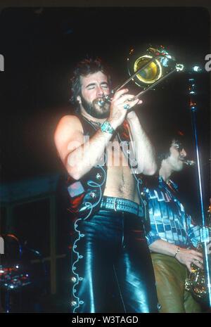 LOS ANGELES, CA - 07 de marzo: Chicago en conciertos Circa 1976 en diversos lugares de Los Ángeles, California. Imagen De Stock