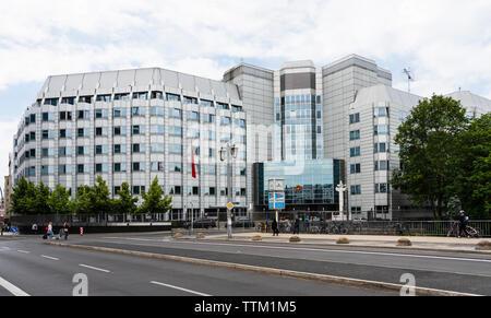 Vista exterior de la Embajada de la República Popular de China en Berlín, Alemania Imagen De Stock