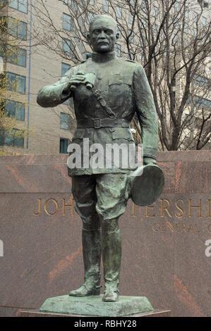 Estatua de la I Guerra Mundial, el Ejército de EE.UU. El General John J. Pershing, Washington, DC. Fotografía Digital. Imagen De Stock