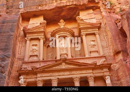 Al Khazneh tesoro, Petra, Jordania Imagen De Stock