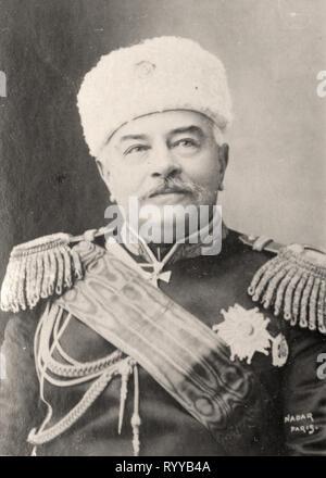 Retrato fotográfico de Dragomiroff Colección de Félix Potin, de principios del siglo XX. Imagen De Stock