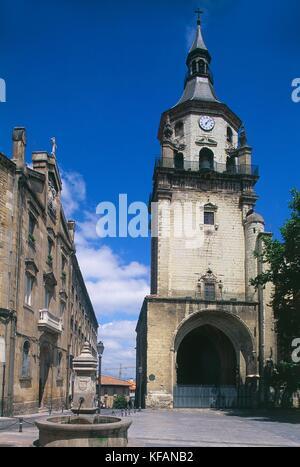Vitoria-gasteiz país vasco e la catedral de Santa Maria Imagen De Stock