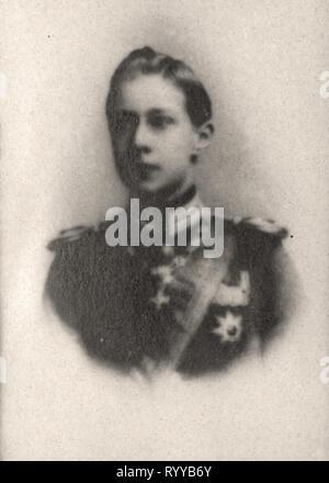 Retrato fotográfico de Frdric Guillaume Prince De Prusse Colección de Félix Potin, de principios del siglo XX. Imagen De Stock