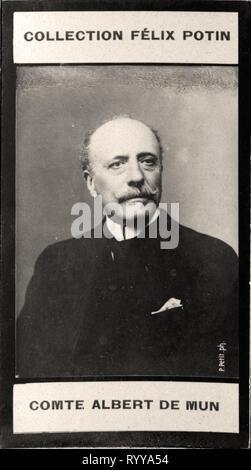 Retrato fotográfico De Mun de colección Félix Potin, de principios del siglo XX. Imagen De Stock