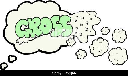 Burbuja de pensamiento dibujados a mano alzada bruto cartoon Imagen De Stock