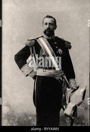 Retrato fotográfico del Príncipe Alberto de Mónaco desde la colección Félix Potin, de principios del siglo XX. Imagen De Stock