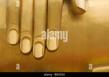 Cerrar imagen arriba de la mano de Big Buddha - Pratumnak Hill, Pattaya Tailandia Imagen De Stock
