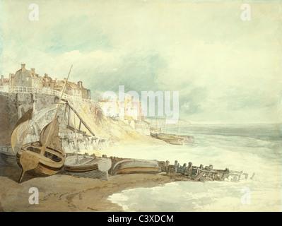 Por Brighthelmstone J.M.W. Turner. Brighton, Inglaterra, a comienzos del siglo XIX. Imagen De Stock