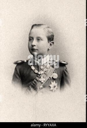 Retrato fotográfico de Auguste Prince De Prusse Colección de Félix Potin, de principios del siglo XX. Imagen De Stock