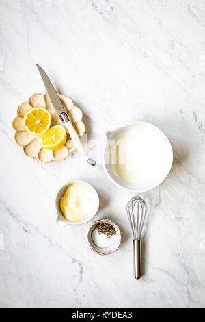 Ingredientes de aderezo de ensalada Imagen De Stock