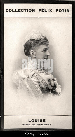 Retrato fotográfico de Louise Reine De Danemark Colección de Félix Potin, de principios del siglo XX. Imagen De Stock