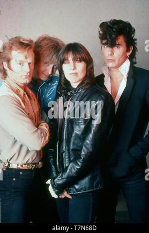 Los pretendientes English-American el grupo de rock con Chrissie Hynde alrededor de 1980. Foto: Van Houten Imagen De Stock