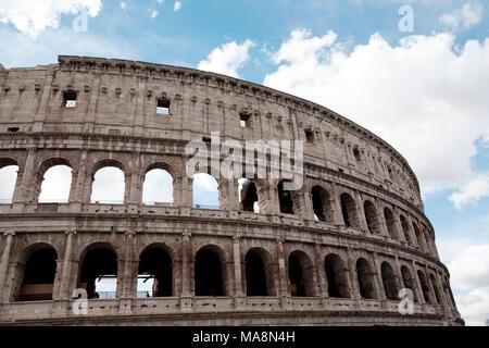 Los restos del Coliseo, Roma Imagen De Stock