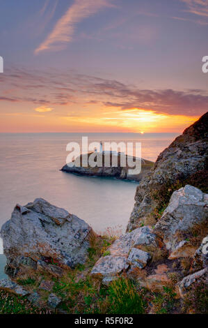 Reino Unido, Gales, Anglesey, Holy Island, South Stack Lighthouse Imagen De Stock