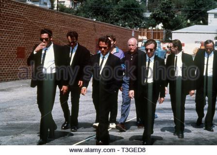 Reservoir Dogs USA Año: 1992 Director: Quentin Tarantino Michael Madsen, Quentin Tarantino, Harvey Keitel, Chris Penn, Lawrence Tierney, Tim Roth, Steve Buscemi Imagen De Stock