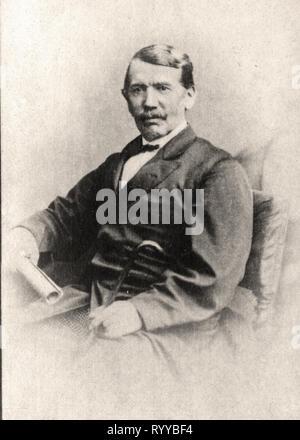 Retrato fotográfico de Livingstone de la colección Félix Potin, de principios del siglo XX. Imagen De Stock