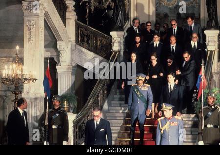 Shah de Irán su funeral El Cairo, Egipto. Mohammad Reza Pahlevi, también conocido como Mohammad Reza Shah. Imagen De Stock