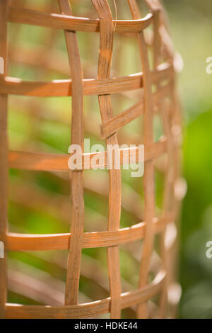 Jardín escena estival con enrejado en vacío de cerca. Imagen De Stock