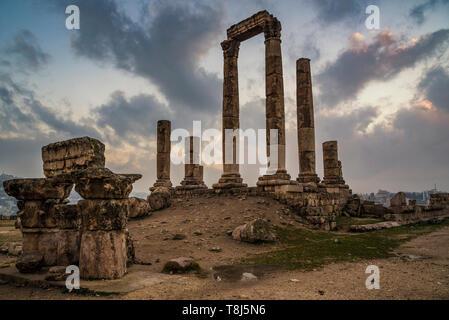 Templo de Hércules, Ammán, Jordania Imagen De Stock