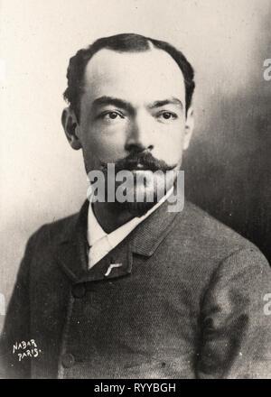 Retrato fotográfico de Marais De Colección Félix Potin, de principios del siglo XX. Imagen De Stock